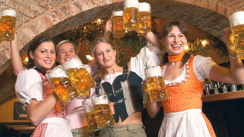 You can enjoy company of beautiful barmaids in pubs