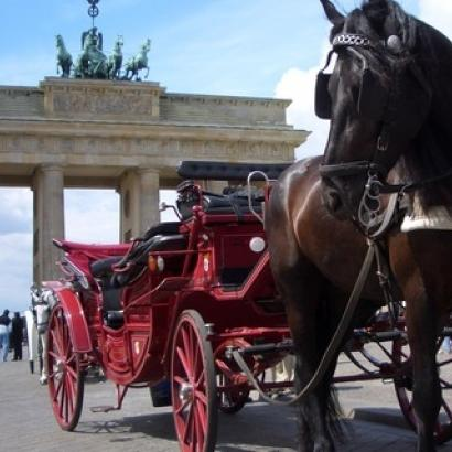 Horse carriage is traditional touristic attraction in Berlin