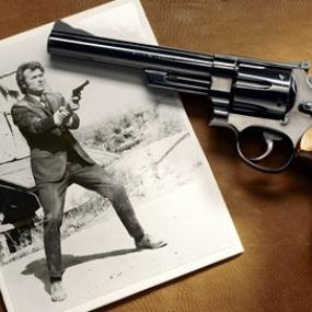 Try shooting from the revolver that gain its popularity by movie Dirty Harry